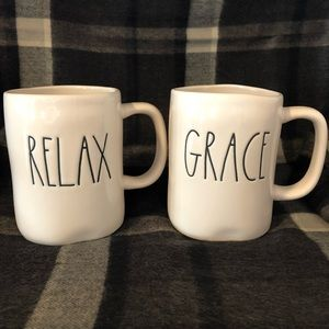 Rae Dunn RELAX and GRACE Mugs